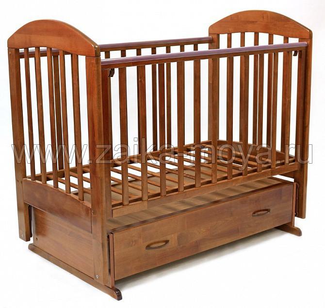 Кроватка для новорожденного с ящиком для белья