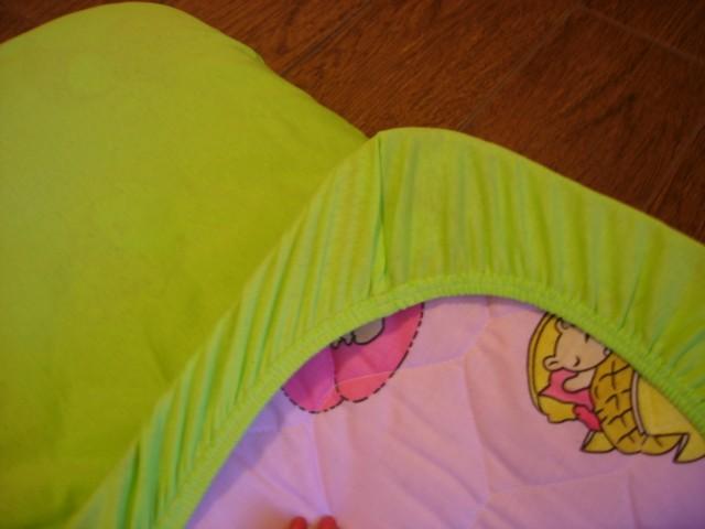 Простынь на резинке для детской кроватки своими руками