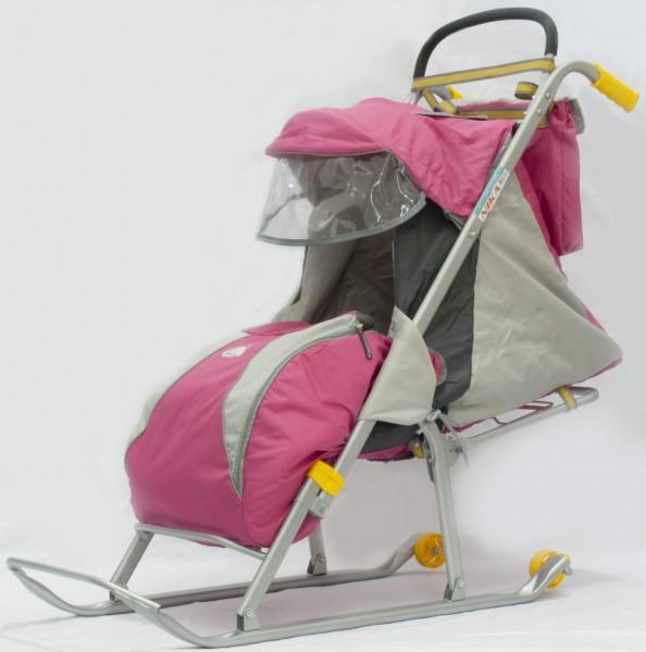 Санки коляска ника детям 2